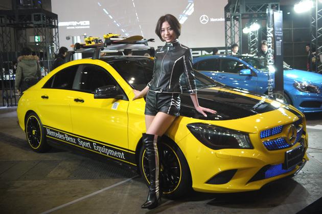 【東京オートサロン2014】コンパニオン・フォト特集第7弾は、メルセデス AMGのブースから!