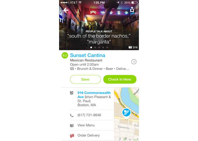 Forget check-ins: Foursquare now lets you order in from local restaurants