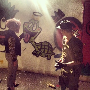 Kelly Osbourne and Justin Bieber