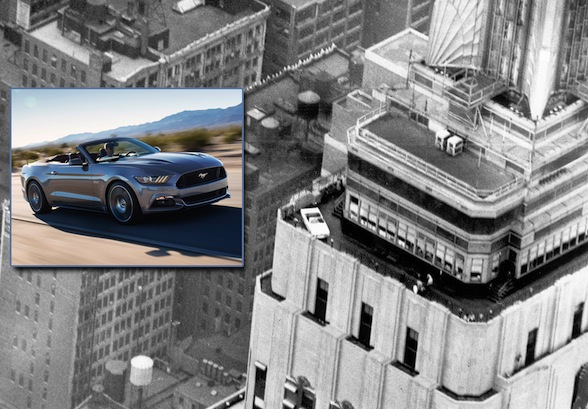 Two of the world?s most recognizable icons are coming together April 16-17, as the all-new 2015 Ford Mustang convertible will be on display on the observation deck of the Empire State Building in New York. The display ? replicating the same feat from nearly 50 years ago ? coincides with the global celebration of 50 years since Mustang debuted at the 1964 World?s Fair in New York.