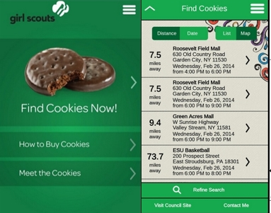 find girl scout cookies app Do you want on-the-go access to the cookies you crave download the girl scout cookie finder app just install the app on your ios or android mobile device and press find cookies now.