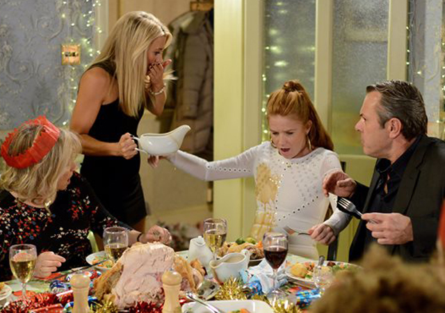 Eastenders Christmas fights