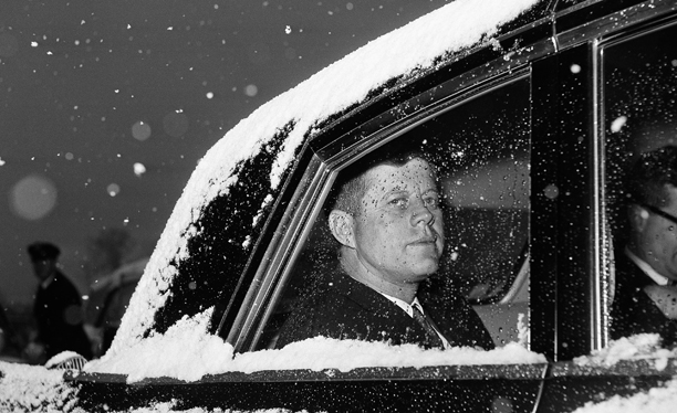 President Kennedy departs Andrews Air Force Base on Dec. 9, 1961.