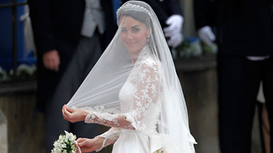 Kate Middleton in Wedding Dress