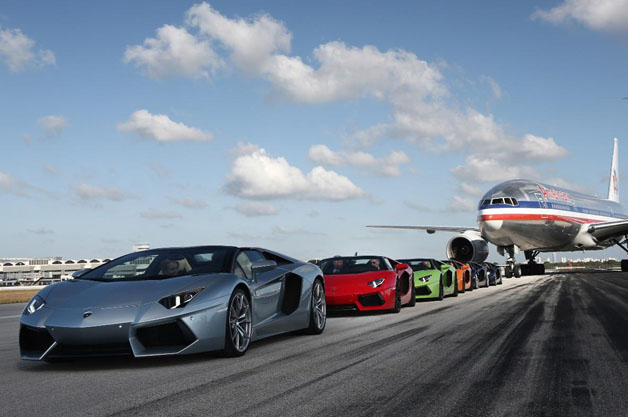 Lamborghini Aventador Roadsters arrive in Miami