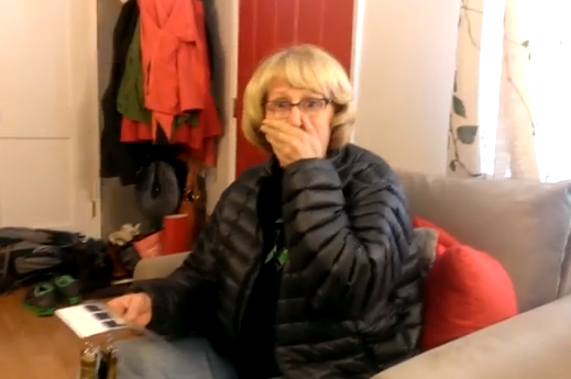 Son surprises mom with Super Bowl tickets