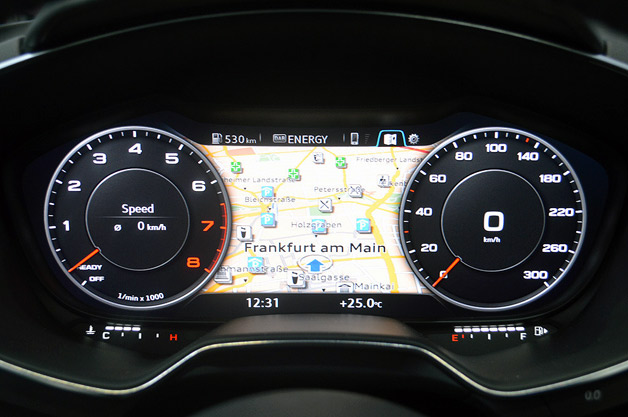 Audi TT digital gauge cluster