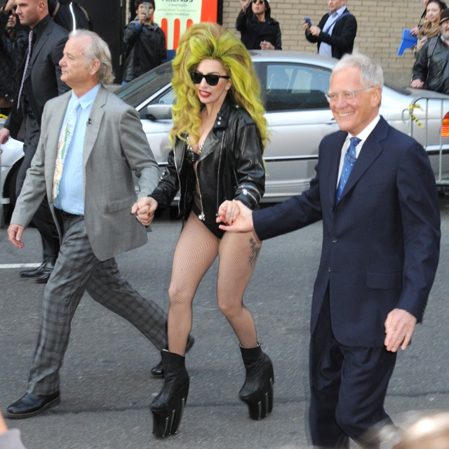 lady-gaga-david-letterman-fishnet-tights-bra-leather-jacket