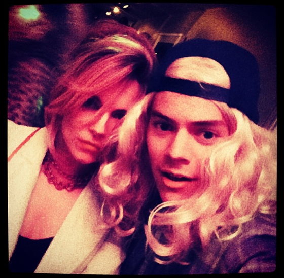 Harry Styles blonde wig Nick Grimshaw Hanson costume