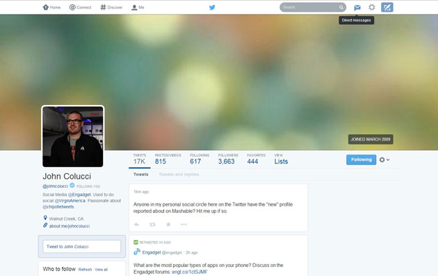 Twitter's latest test channels Pinterest and Facebook in profile redesign