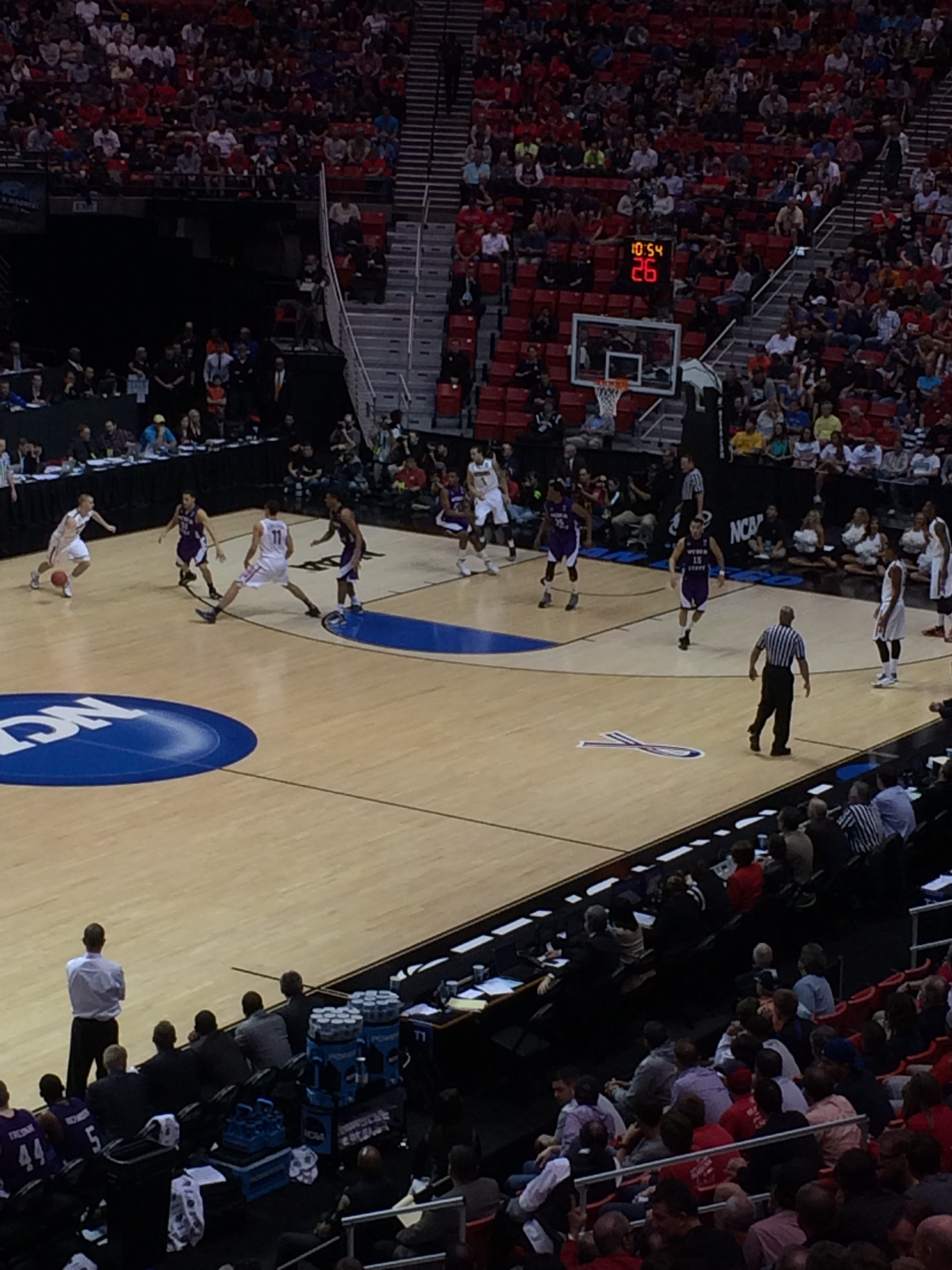 Student Taylor Messuri snapped this photo live from the game.