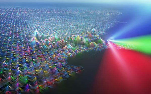 Nichts für Elektrosmog-Sensibelchen: Mobilfunksignale farbenfroh visualisiert