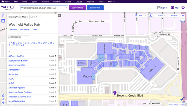 Yahoo Maps adds indoor navigation powered by Nokia Here