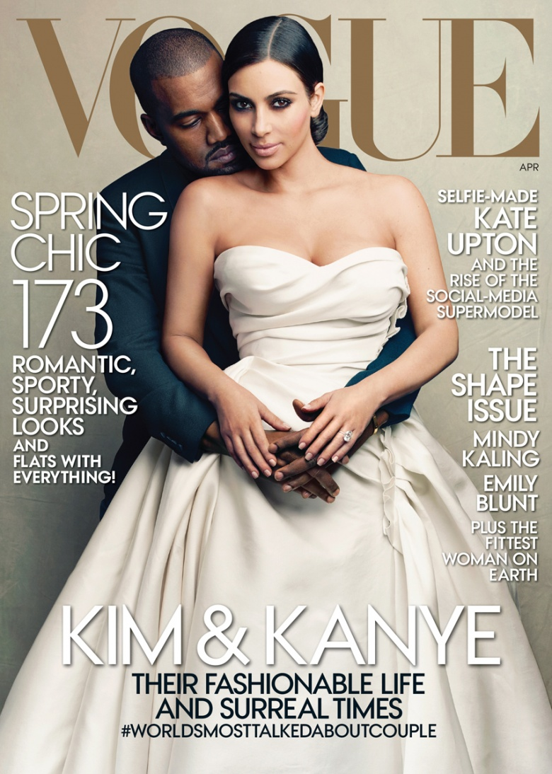 Kim Kardashian and Kanye West cover VOGUE