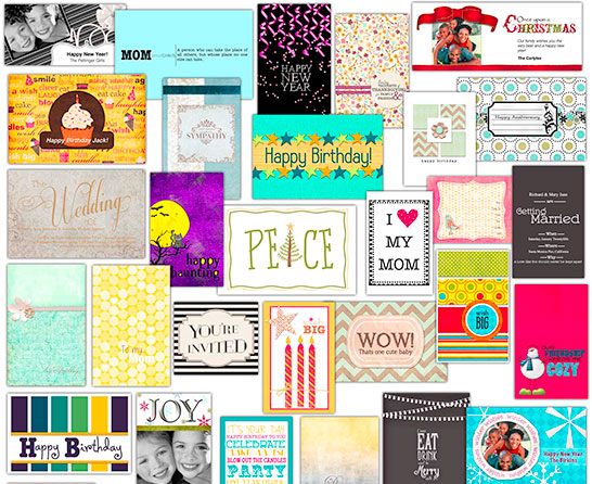 Sample of Cards from Greeting Card Shop