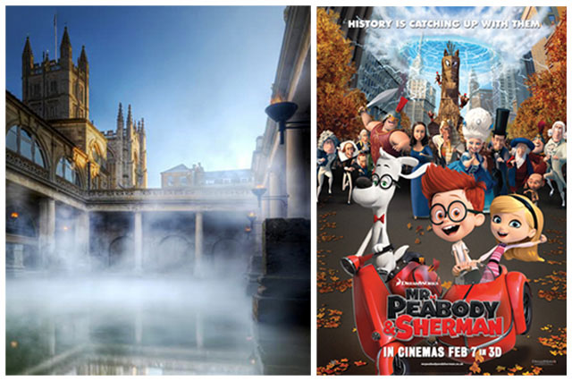 Win a VIP family visitor pass for the historical city of bath with Mr. Peabody and Sherman