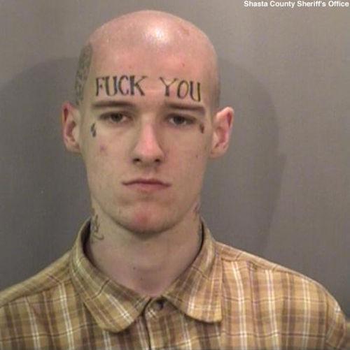 worst face tattoos fuck you eyebrows