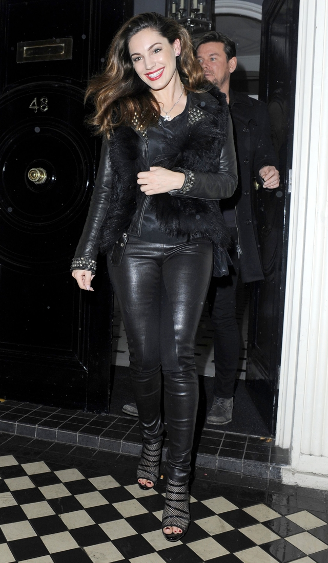 Kelly Brook Does Head To Toe Leather As It S Revealed She
