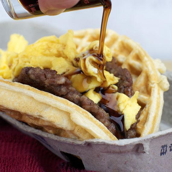taco bell, breakfast waffle taco