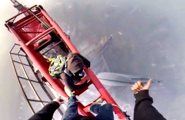 shanghai Tower climbing video