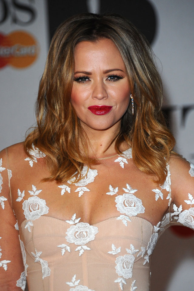 LONDON, ENGLAND - FEBRUARY 19: Kimberley Walsh attends The BRIT Awards 2014 at 02 Arena on February 19, 2014 in London, England.  (Photo by Anthony Harvey/Getty Images)