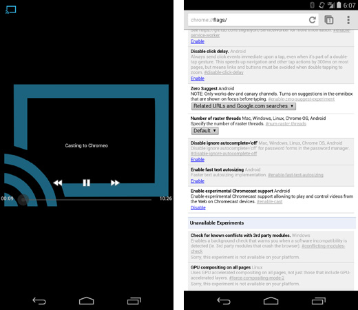 Chromecast support in Chrome beta for Android