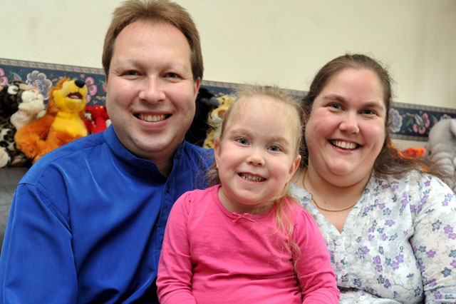 Lottery winners donate to girl with cerebral palsy