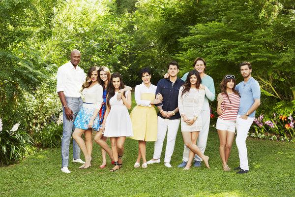 KEEPING UP WITH THE KARDASHIANS -- Season: 8 -- Pictured: (l-r) Lamar Odom, Khloe Kardashian Odom, Kendall Jenner, Kim Kardashian, Kris Jenner, Rob Kardashian, Kylie Jenner, Bruce Jenner, Kourtney Kardashian, Scott Disick -- (Photo by: Brian Bowen Smith/E!)
