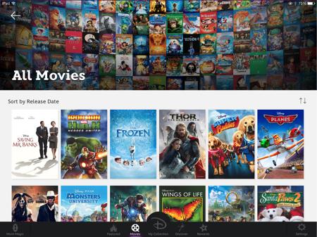 disney app screenshot