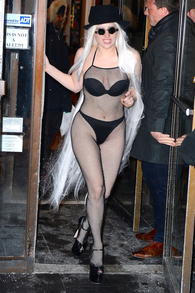 Lady-gaga-underwear-fishnet-body-suit-new-york