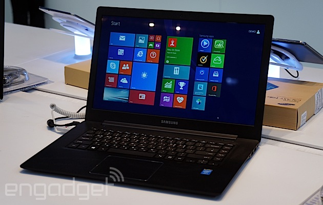 Samsung's thing for (faux) leather continues with the ATIV Book 9 Style