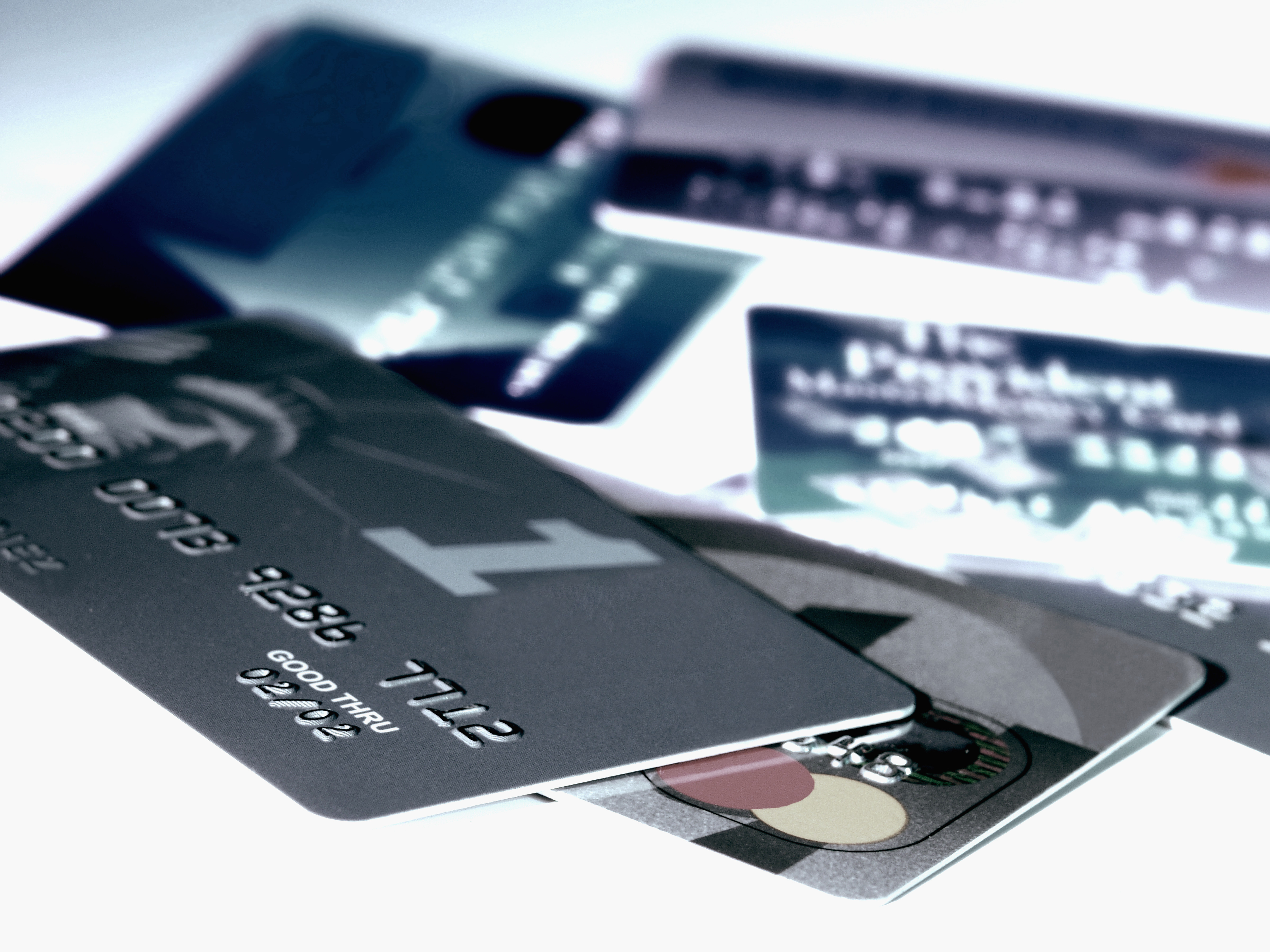 Array of credit cards