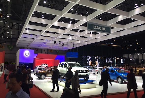 Dacia show stand