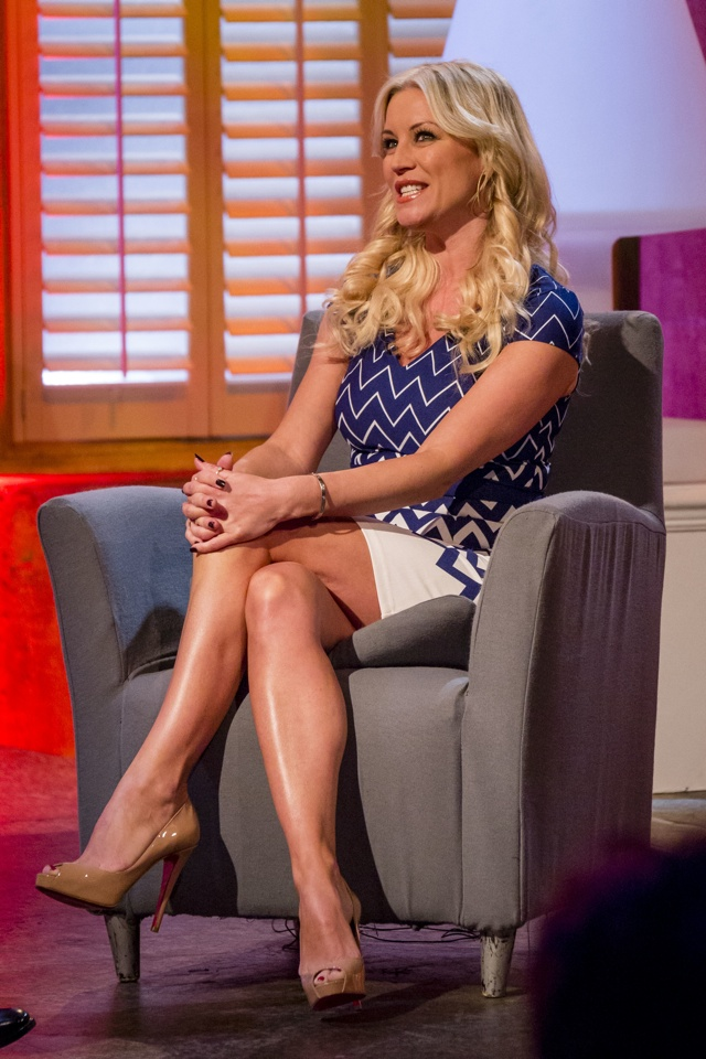 EDITORIAL USE ONLY / NO MERCHANDISING Mandatory Credit: Photo by Steve Meddle/REX (3586398p) Denise Van Outen 'The Alan Titchmarsh Show' TV Programme, London, Britain - 19 Feb 2014