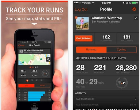 Strava run fitness app is first app to use iphone 5s m7 motion