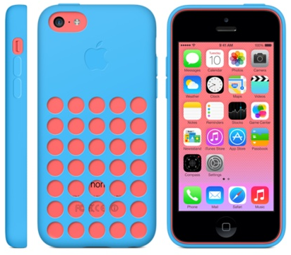 iphone 5c blue and pink