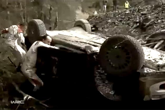 【ビデオ】クビサ、初参戦となるWRCでクラッシュアウト!