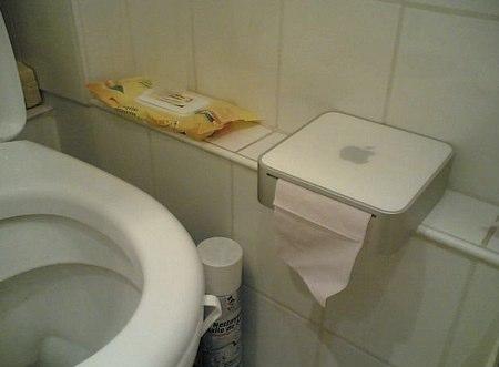 mac mini with toilet paper