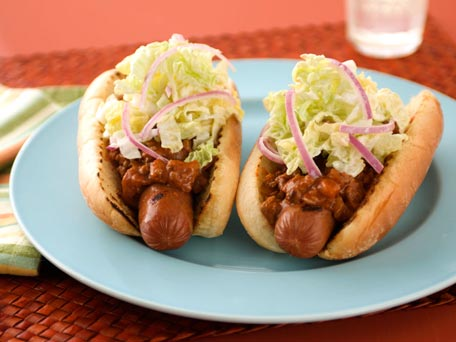 Chili Dogs With Creamy Coleslaw