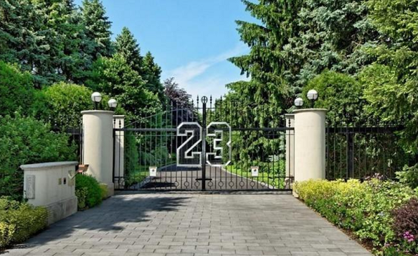 gate to michael jordan home up for auction