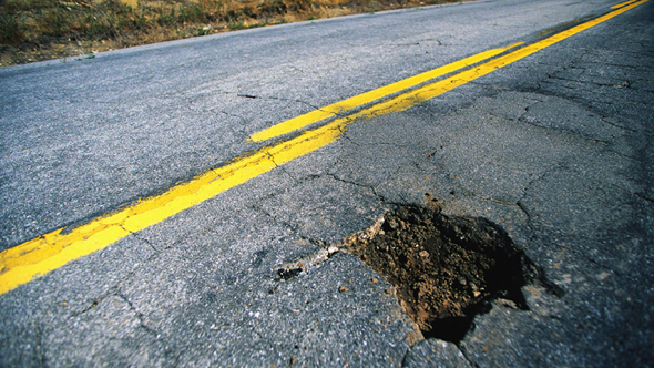 Pothole damage insurance claims soar