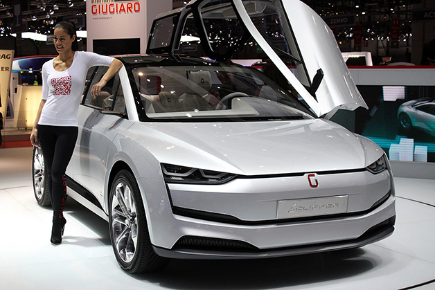 The Giugiaro Clipper MPV concept at the 2014 Geneva Motor Show