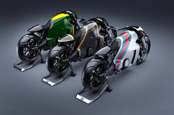 Lotus Motorcycles C-01, designed by Daniel Simon