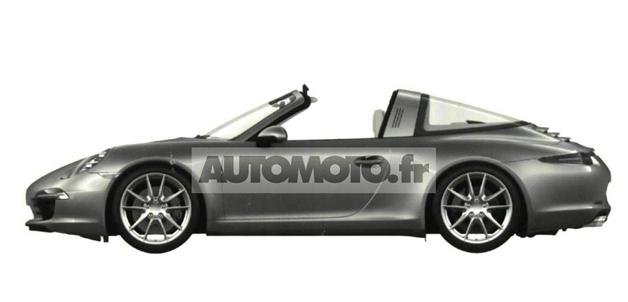 【レポート】新型ポルシェ「911タルガ」の特許出願用画像が流出?