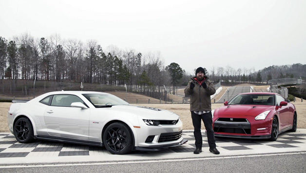 【ビデオ】日産「GT-R」とシボレー「カマロ Z/28」が対決!