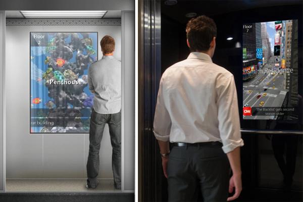 Das Auge fährt mit: Virtuelle Fenster für Fahrstühle als praktisches Nachrüst-Set (Video)