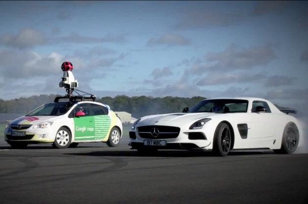 【ビデオ】Googleストリートビューの撮影車が、『トップギア』のスティグを撮影!