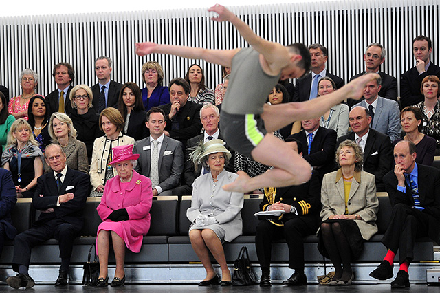the queen watches contemporary dance