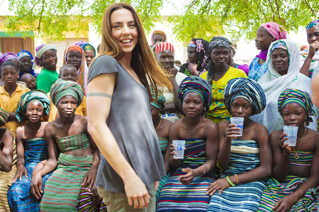 Spice Girl Melanie C supports the P&G and Asda Clean Water Campaign