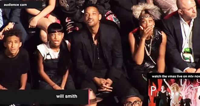 Will Smith and Family at the 2013 MTV VMAs